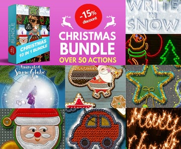Christmas Photoshop Actions Bundle
