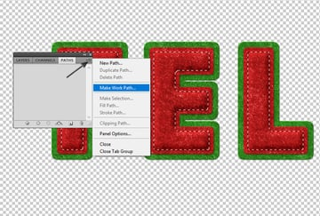 Make Work Path in Photoshop