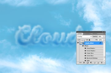How to Make Clouds in Photoshop Clouds Effect