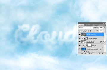 How to Add Clouds in Photoshop Tutorial Clouds Texture