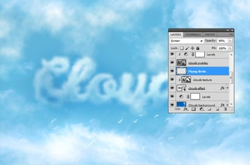 How to Add Clouds in Photoshop Tutorial Flying Birds