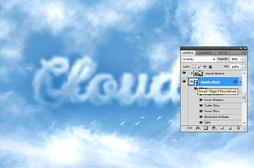 How to Create Clouds in Photoshop Tutorial Edit Smart Object in Photoshop