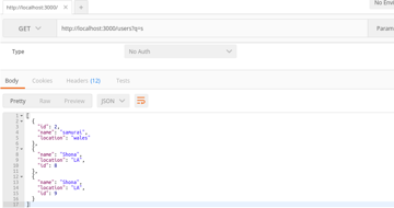 Full Text Search in json-server REST API