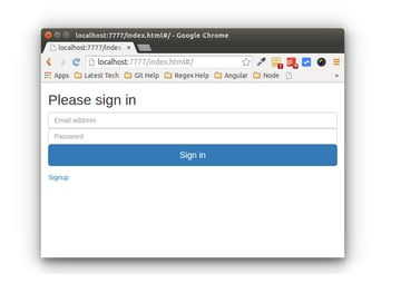 Sign In Screen with Sign Up Link