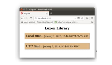 Luxon Library - Local  UTC Time With Seconds