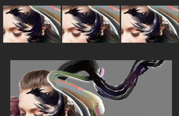 Small details in the hair