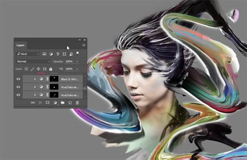 Multiple hue layers to tint our focal point