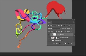 Adding some shading to your colors with clipping mask