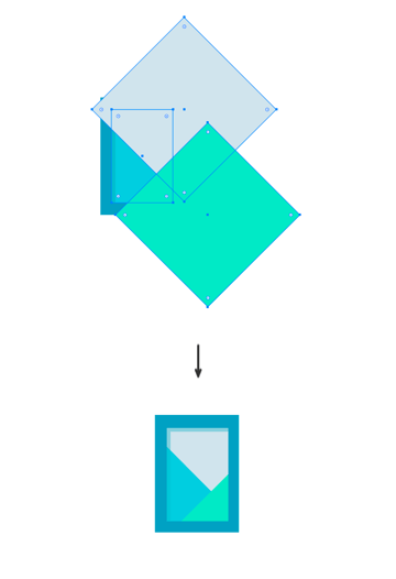 Adding a mosaic with rectangles