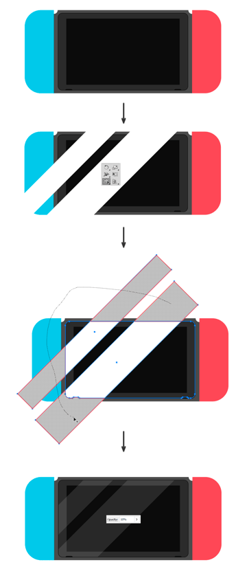 Adding highlights on the screen
