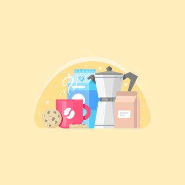 Coffee and Cookie Illustration Adobe Illustrator Tutorial