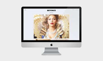 Beyonce website mock up