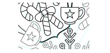 add a decorative line around the snowflake