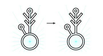 create the center of the snowflake