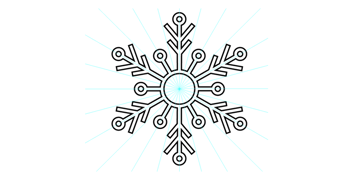 exit symbol editing mode to view the full snowflake