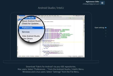 Open Android Studio SettingsPreferences