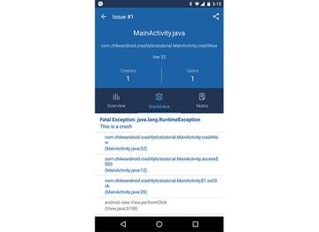 Fabric mobile app screen