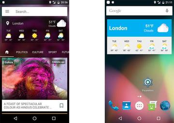 News App template screenshots