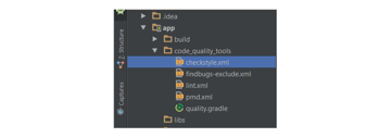 Android studio project structure screenshot