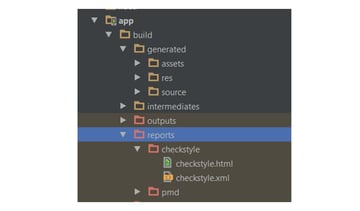 Android Studio Checkstyle report folder location