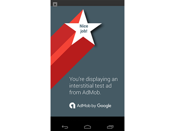 App showing interstitial ad