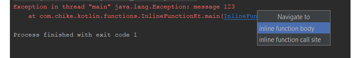 IntelliJ IDEA stack trace for inline function