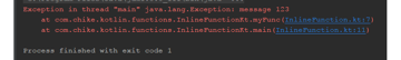 IntelliJ IDEA stack trace for normal function