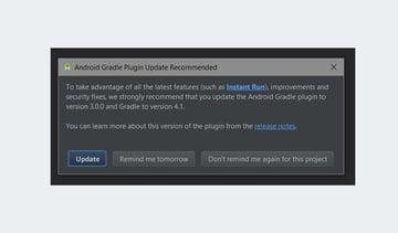 Update Gradle plugin dialog