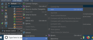 Adding unversioned files to git