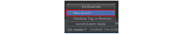 New Branch button