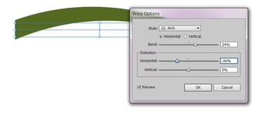 bend the stalk with the mentioned settings