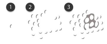 create half moon shapes