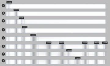 create striped white and grey mesh