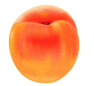 place texture onto peach