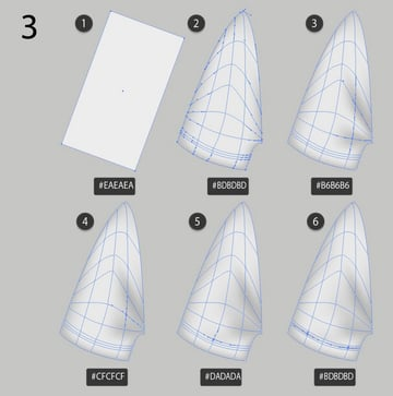 how to draw with gradient mesh