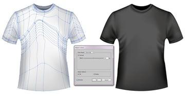 black t-shirt mesh template
