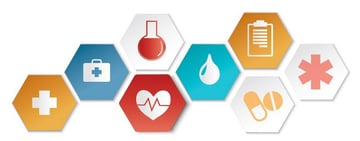 set of icons medical vector