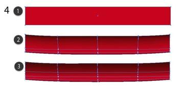 red mesh carpet showroom
