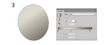 linear gradient ellipse