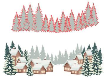 winter background design pine trees
