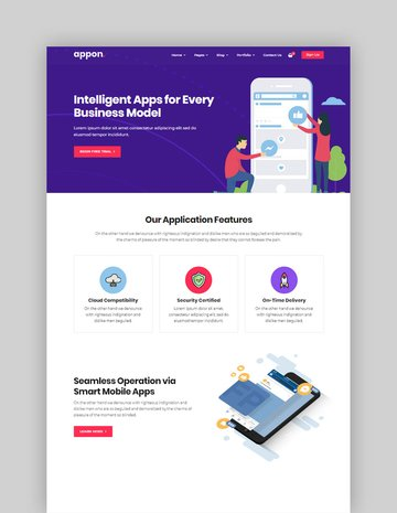 Appon App SaaS Software Theme