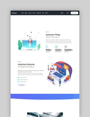 Techland WordPress Saas Startup Theme