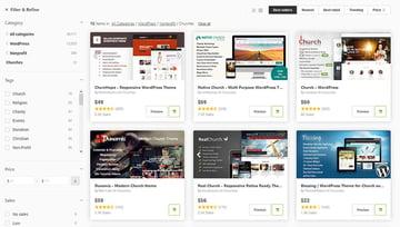 WordPress religious themes on ThemeForest