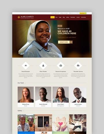 Alms Ministry Charity WordPress Theme