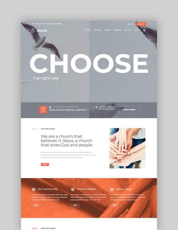 Grace Church Religion  Charity WordPress Theme