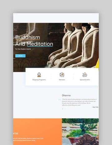 Great Lotus Oriental Buddhist Temple WordPress Theme