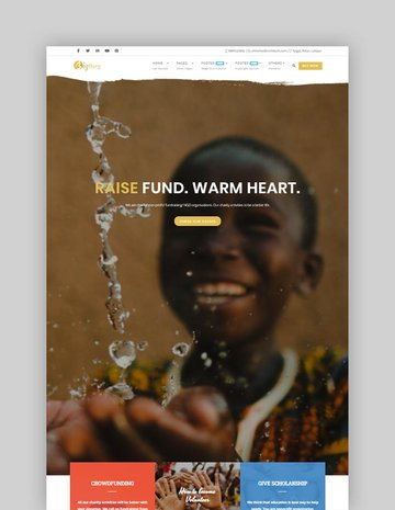 NGO Charity Fundraising Lite Free WordPress Child Theme