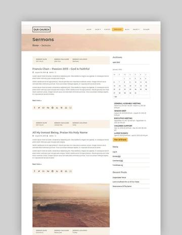 Our Church WordPress Theme