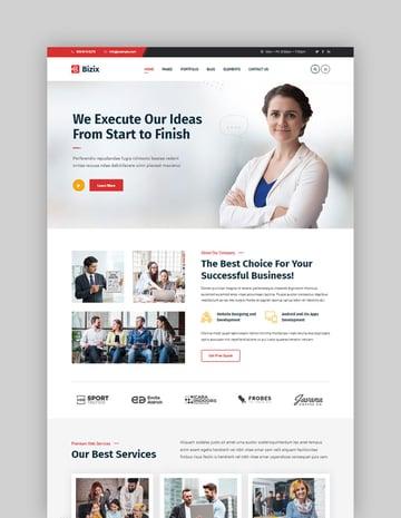 Bizix - Plantillas de WordPress profesionales para corporación y empresa en línea