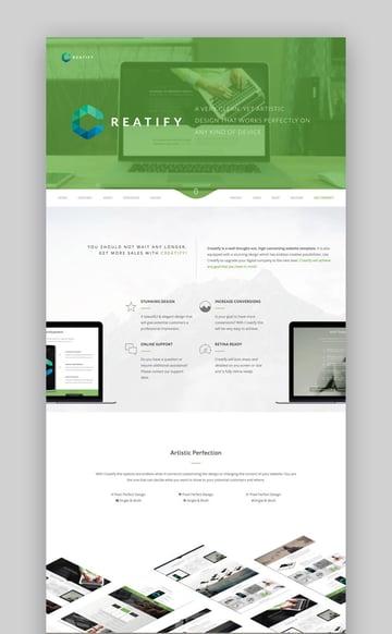 Creatify - Tema multipropósito de WordPress para una empresa online